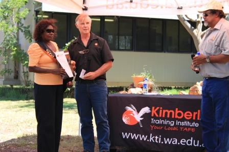 Don Gordon Presenting Award to Marlene Skeen (Student of the Year KTI 2012)